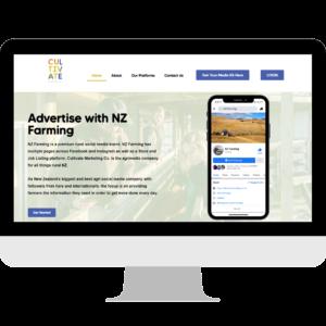 Cultivate Marketing Co. Web Design