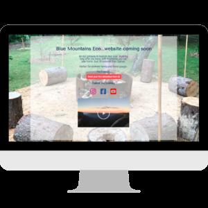Blue Mountains Eco Landing Page Design
